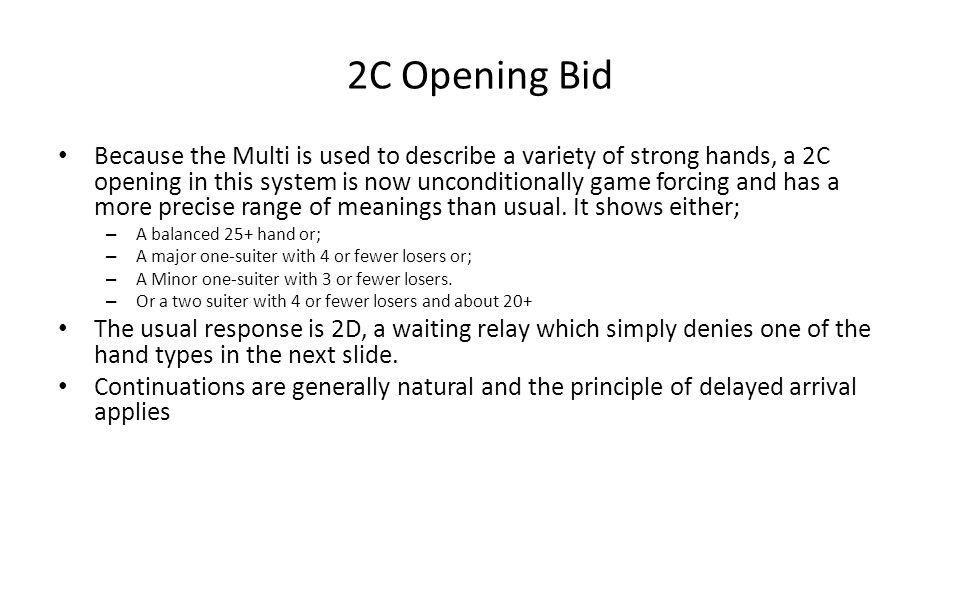2C Opening Bid