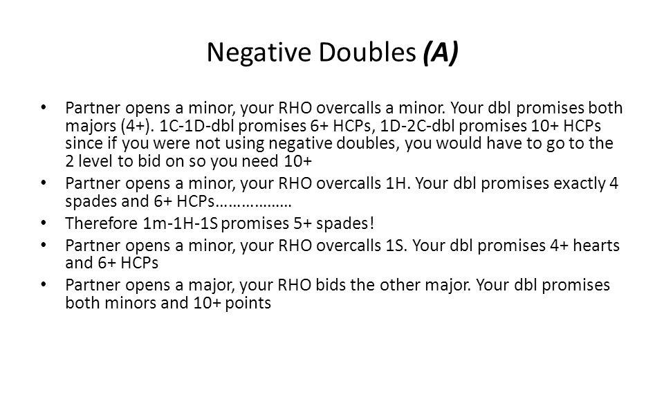 Negative Doubles (A)