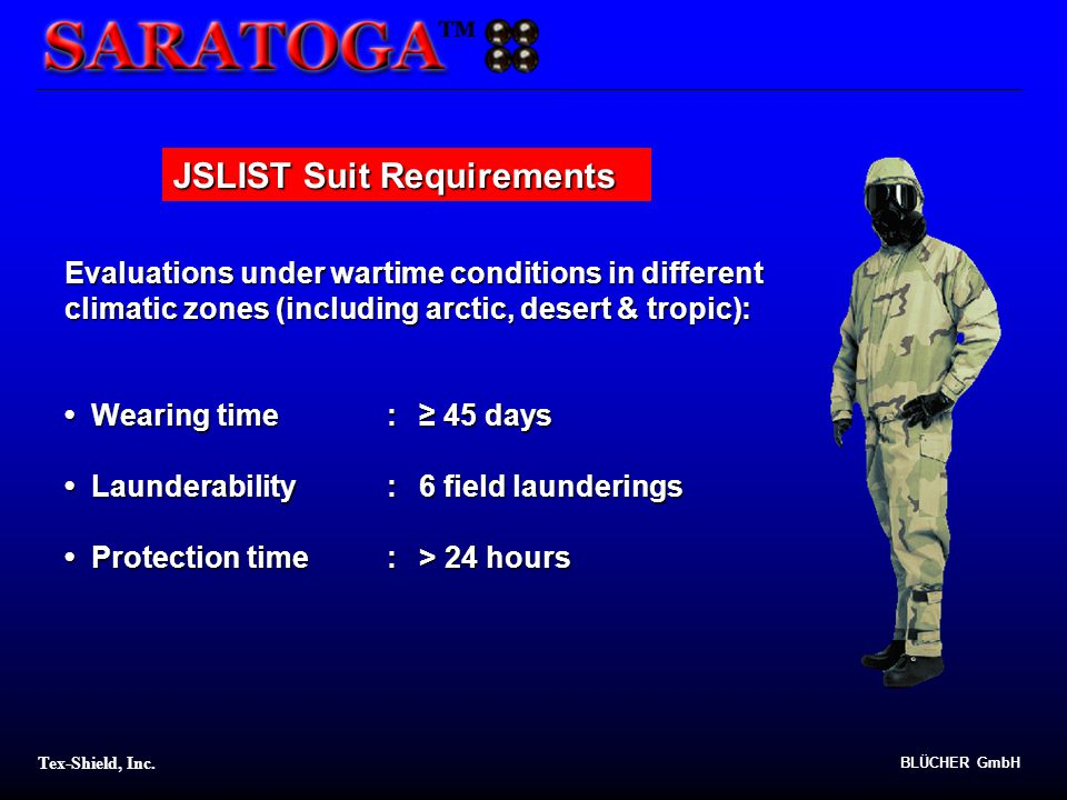 JSLIST Suit Requirements