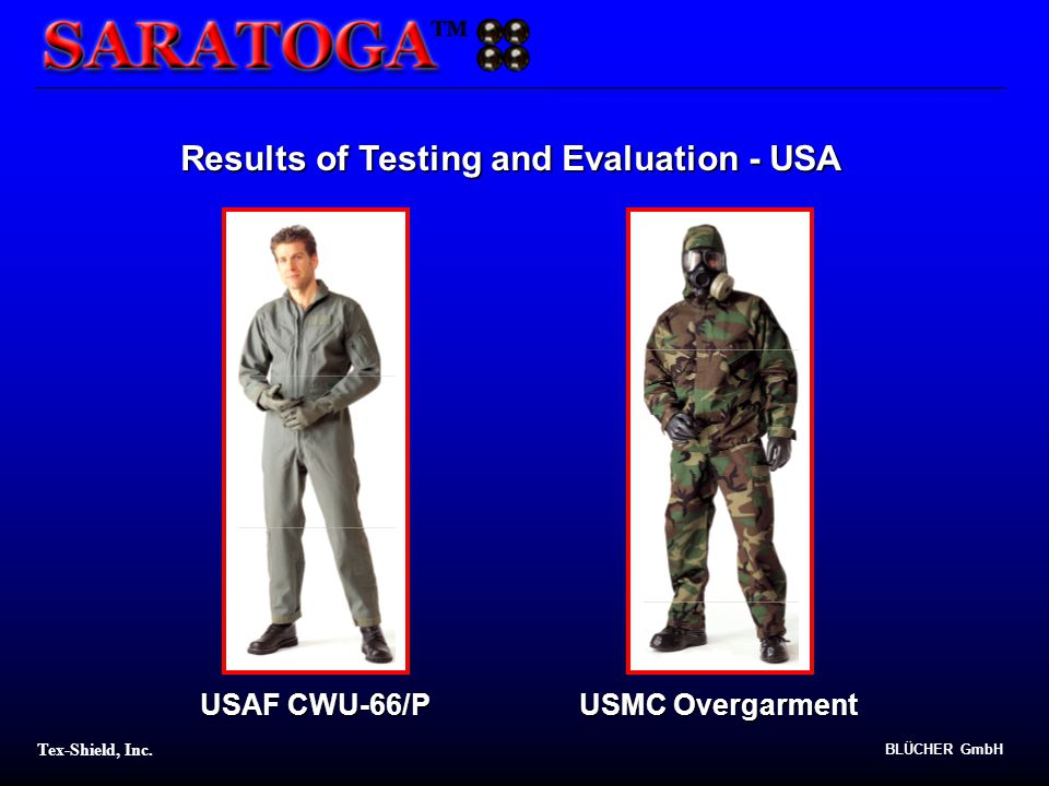 Results of Testing and Evaluation - USA