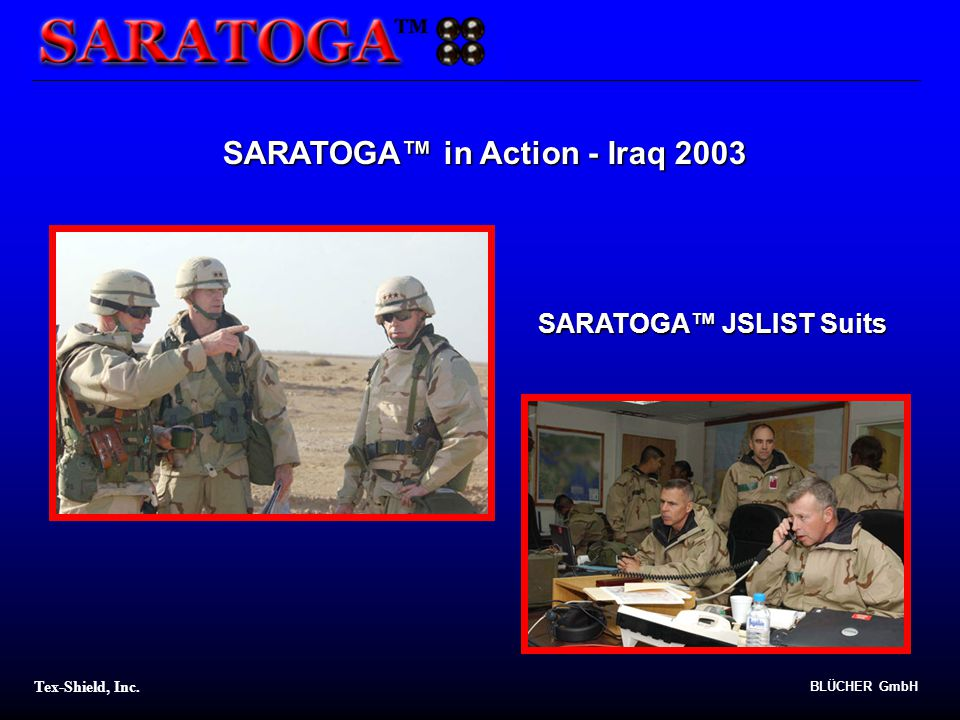 SARATOGA™ in Action - Iraq 2003