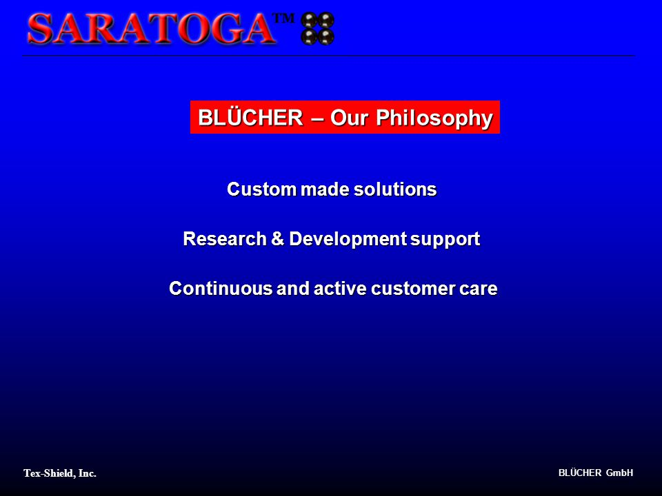 BLÜCHER – Our Philosophy