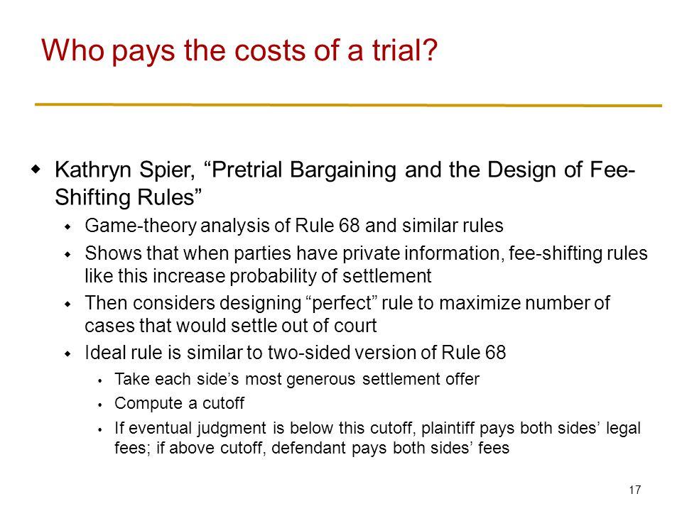 Unitary versus Segmented Trials