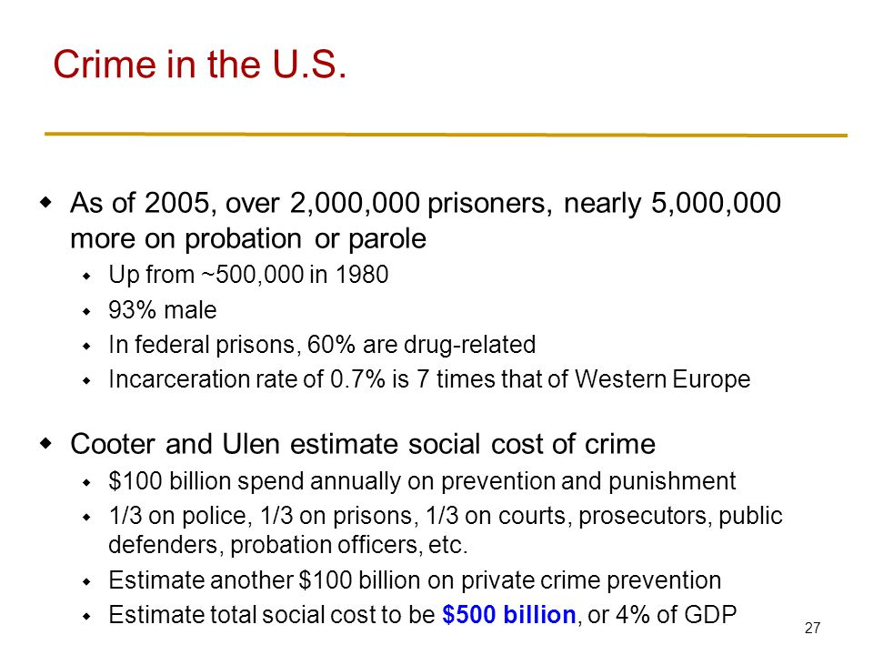 Crime in the U.S. Crime rates (relative to population) in the U.S…