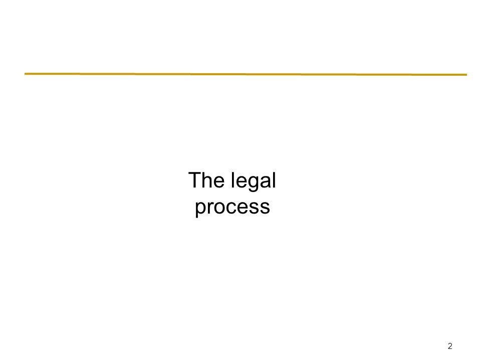 Tuesday, we… Formulated the goal of the legal process