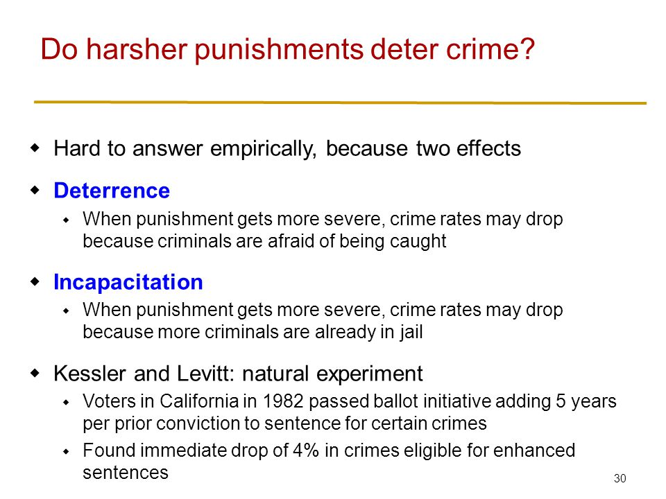 Imprisonment Imprisonment has several effects: