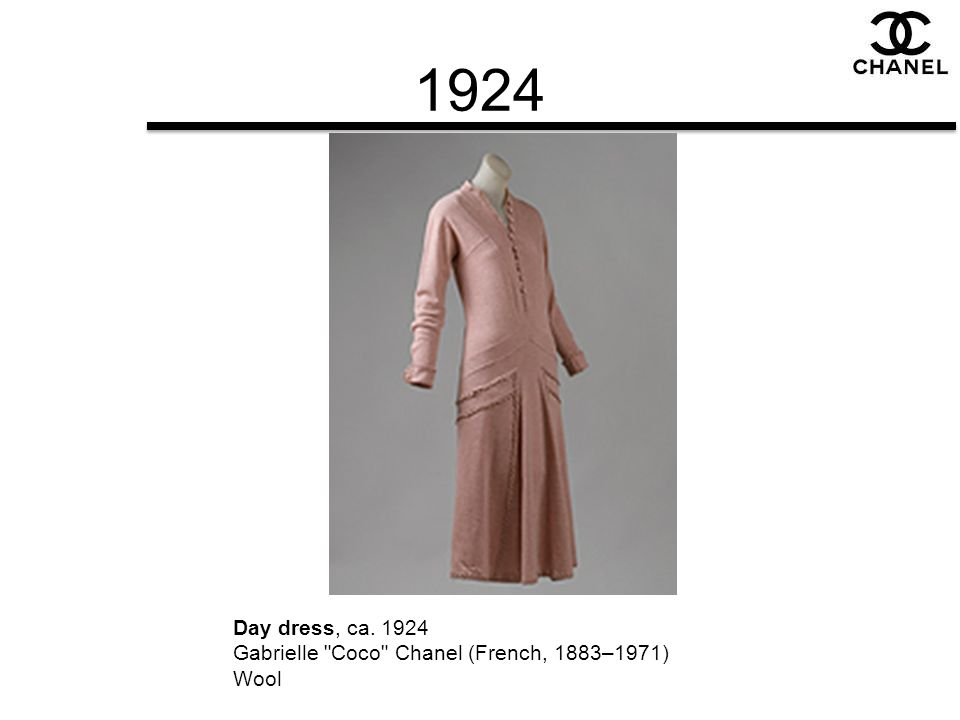 1924 Day dress, ca. 1924 Gabrielle Coco Chanel (French, 1883–1971) Wool