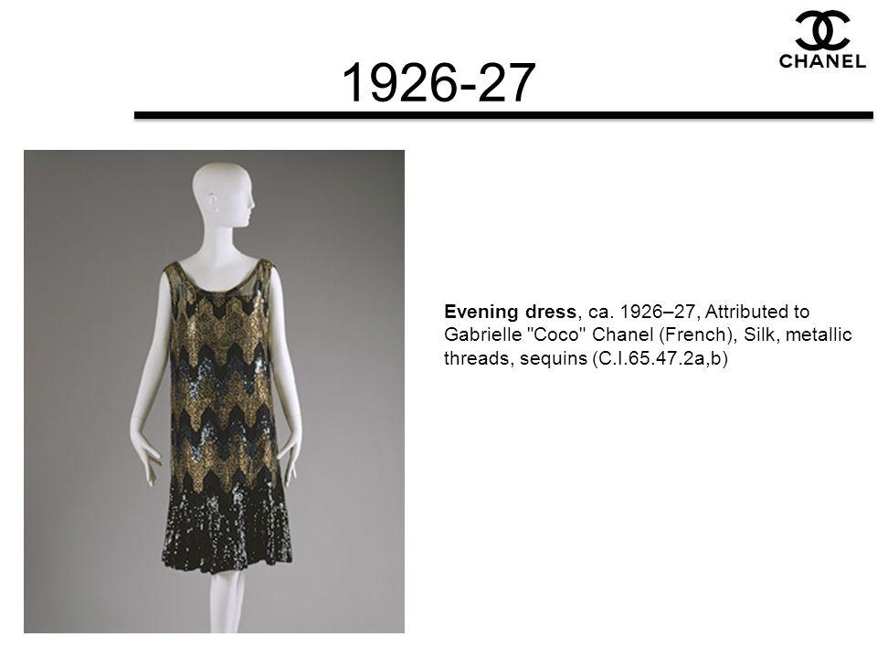 1926-27 Evening dress, ca.