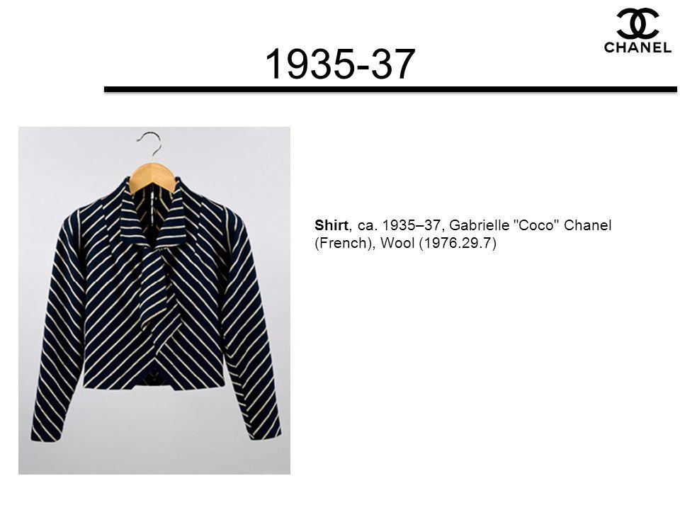 1935-37 Shirt, ca. 1935–37, Gabrielle Coco Chanel (French), Wool (1976.29.7)