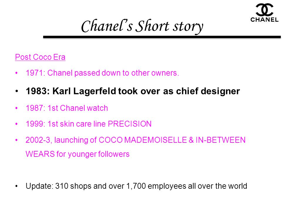 Chanel's Short story 1983: Karl Lagerfeld took over as chief designer