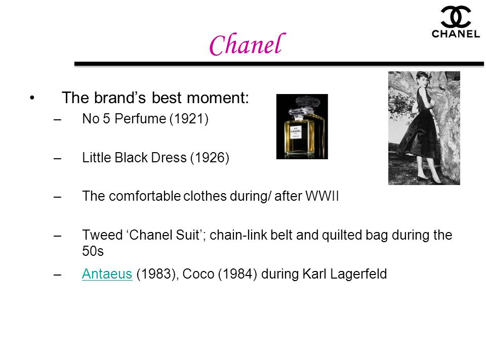 Chanel The brand's best moment: No 5 Perfume (1921)