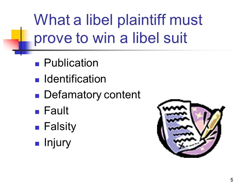 What a libel plaintiff must prove to win a libel suit