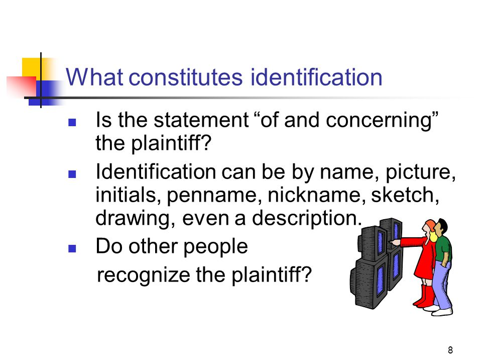 What constitutes identification