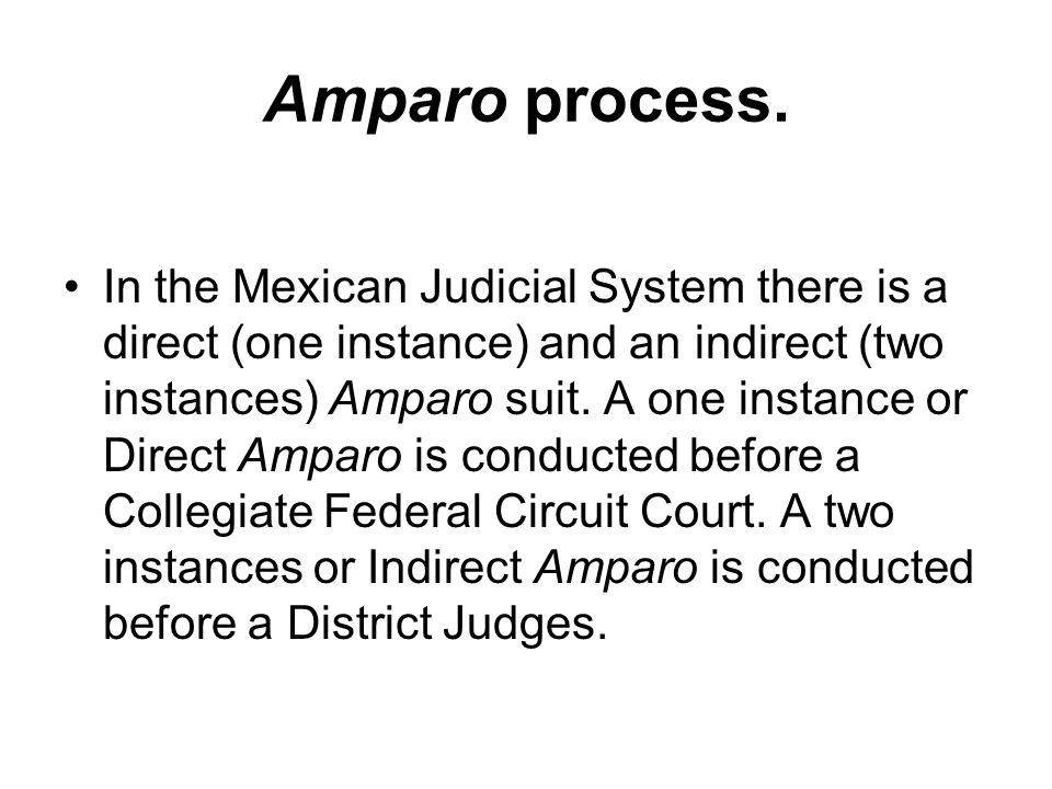 Amparo process.