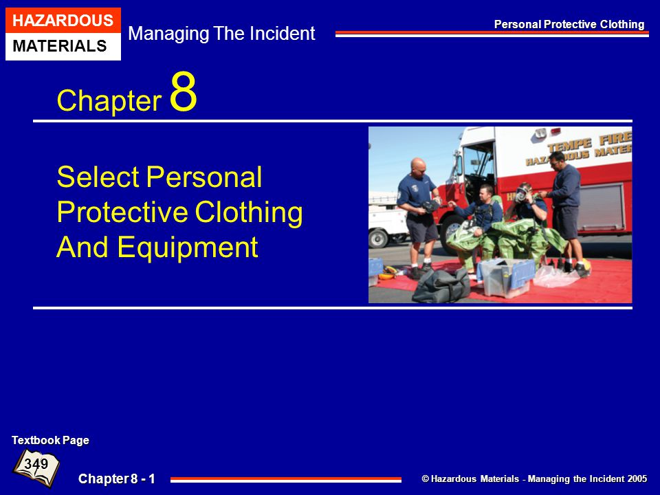Chapter 8 Select Personal Protective Clothing And Equipment