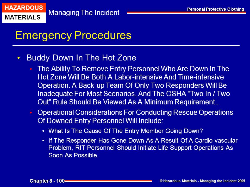 Emergency Procedures Buddy Down In The Hot Zone