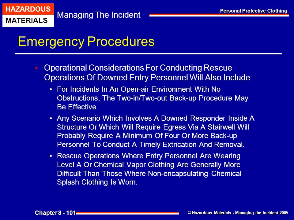 Emergency Procedures Operational Considerations For Conducting Rescue Operations Of Downed Entry Personnel Will Also Include:
