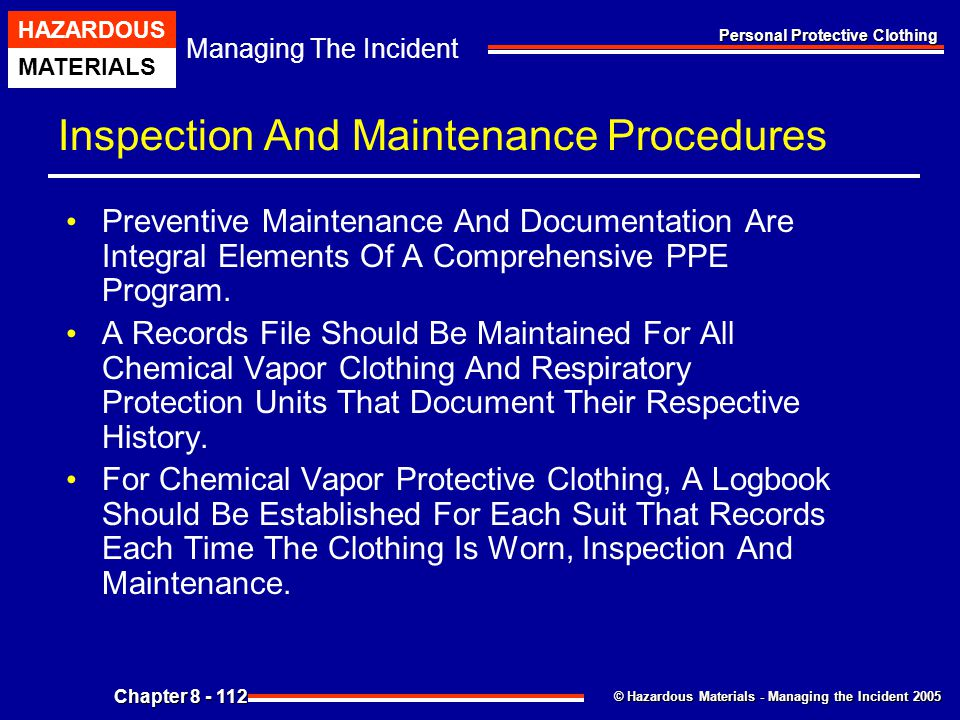 Inspection And Maintenance Procedures