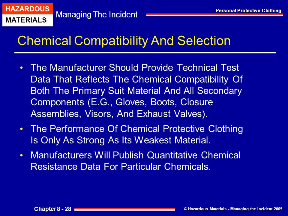 Chemical Compatibility And Selection