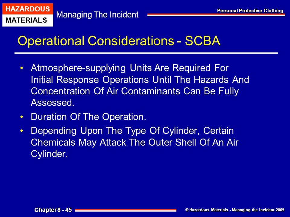 Operational Considerations - SCBA