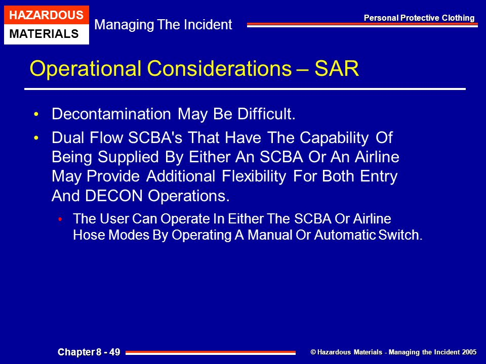 Operational Considerations – SAR
