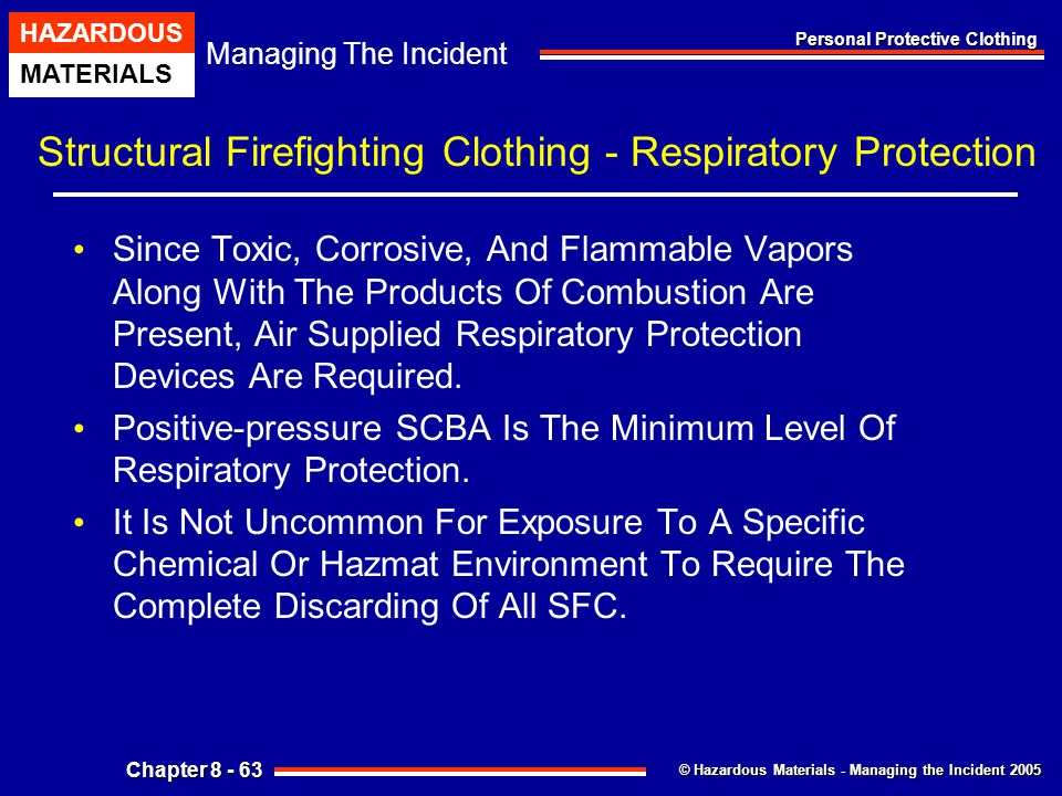 Structural Firefighting Clothing - Respiratory Protection