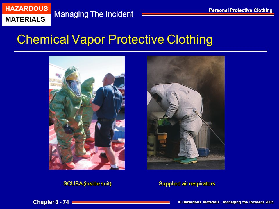 Chemical Vapor Protective Clothing