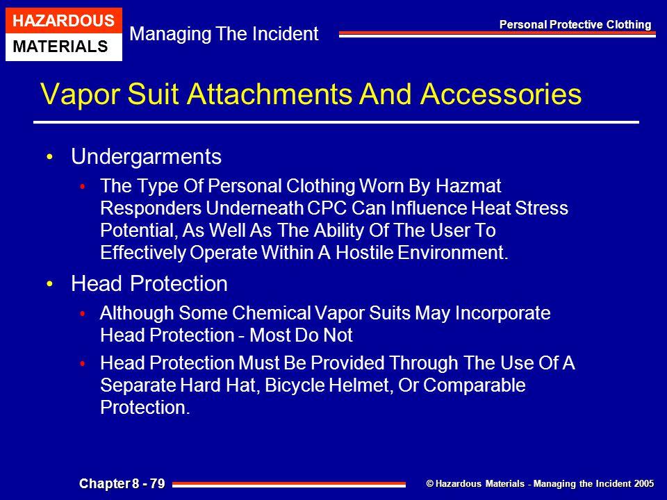 Vapor Suit Attachments And Accessories