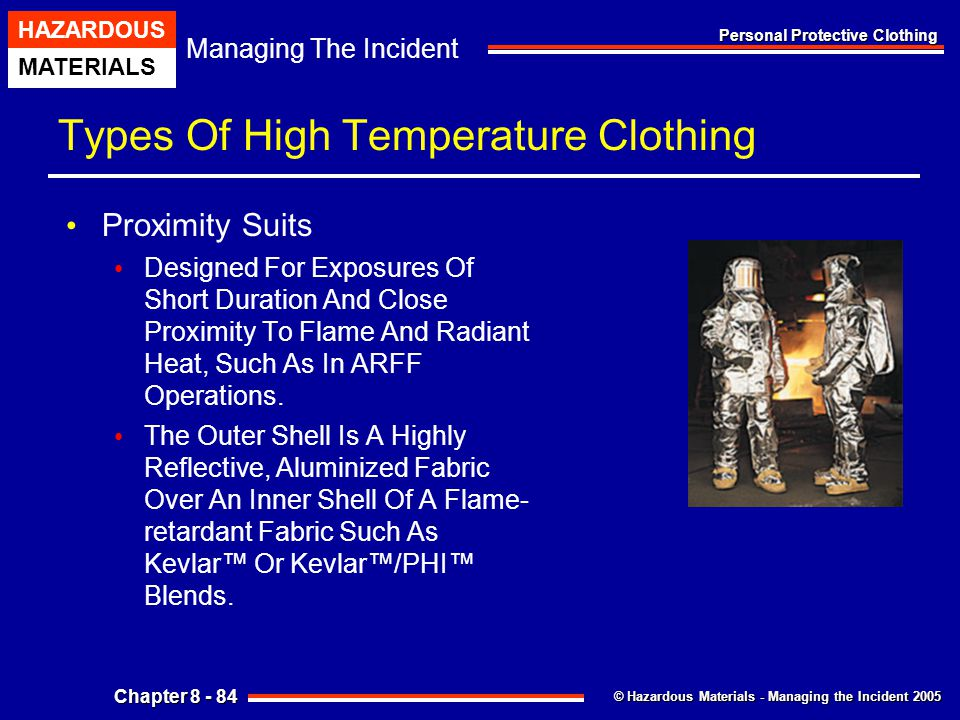 Types Of High Temperature Clothing