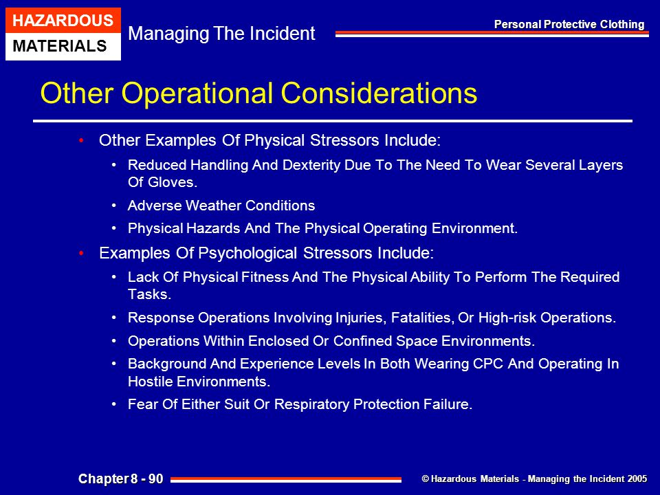 Other Operational Considerations