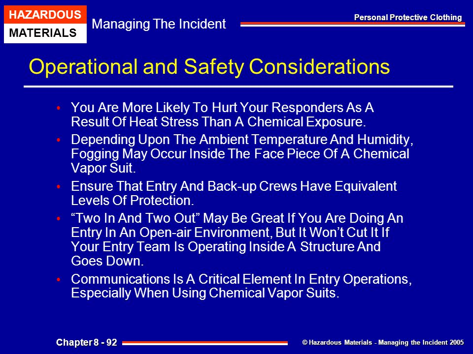 Operational and Safety Considerations