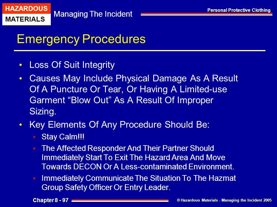 Emergency Procedures Loss Of Suit Integrity