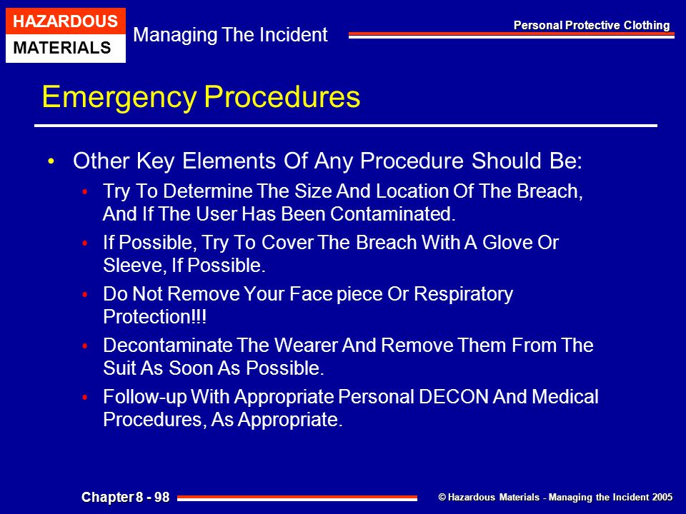 Emergency Procedures Other Key Elements Of Any Procedure Should Be: