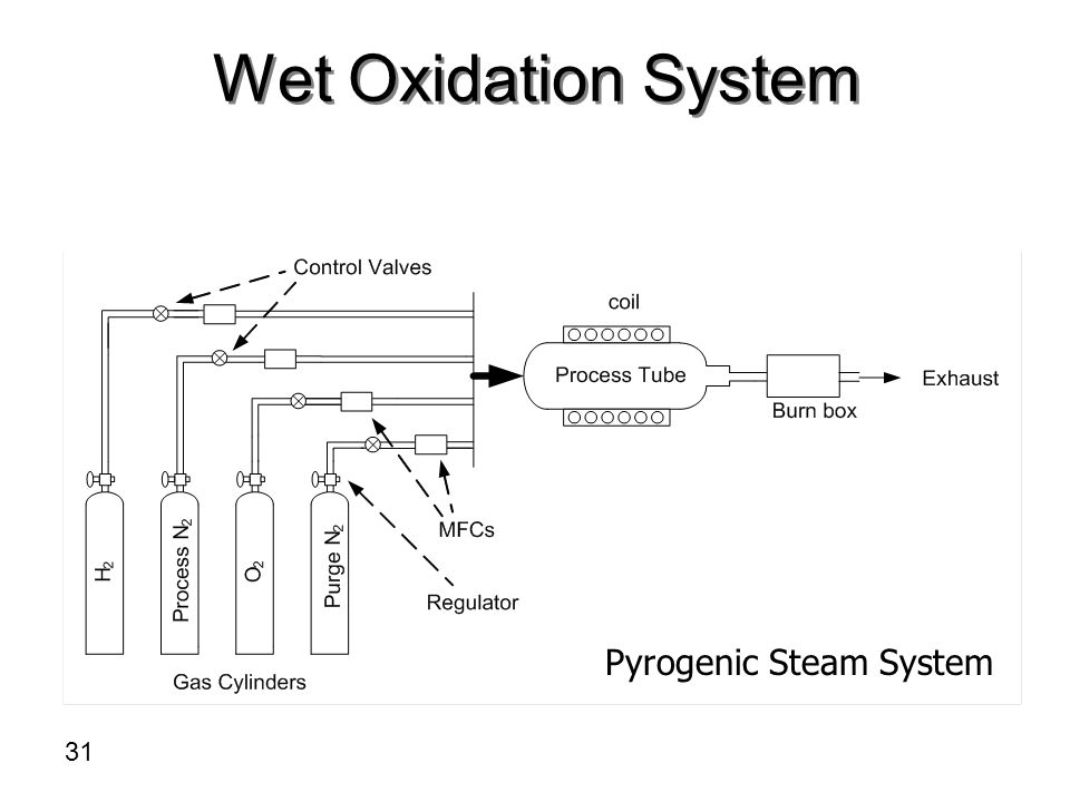 Wet Oxidation System Pyrogenic Steam System