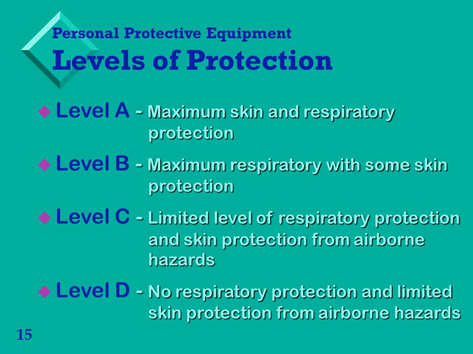 Level A - Maximum skin and respiratory protection