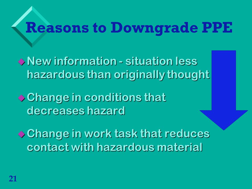 Reasons to Downgrade PPE
