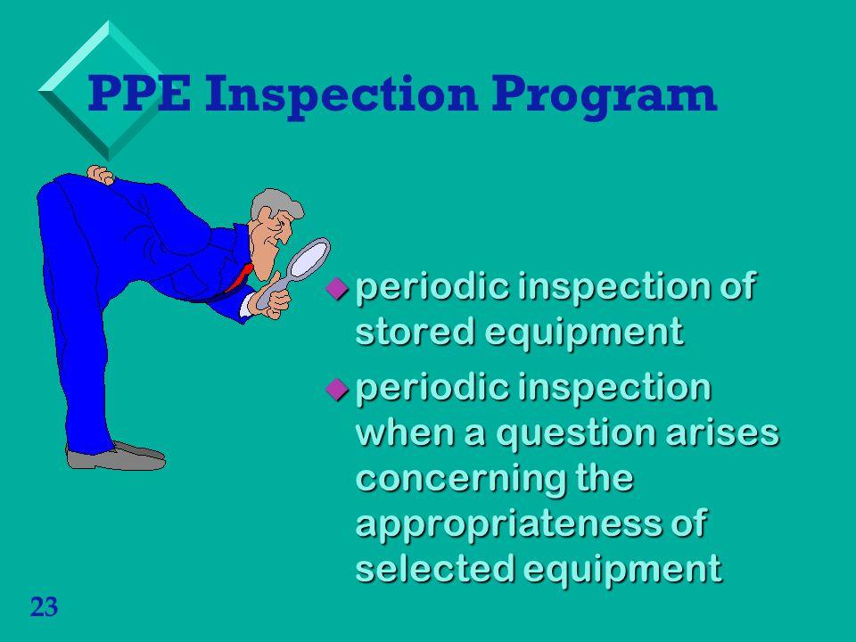 PPE Inspection Program
