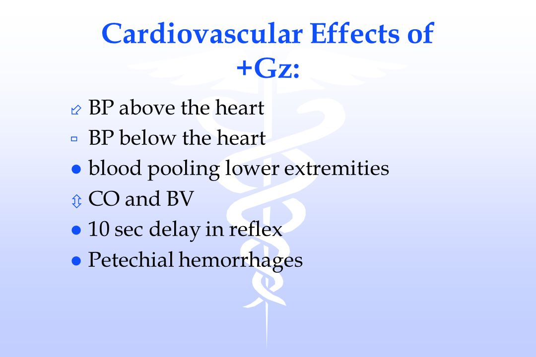 Cardiovascular Effects of +Gz: