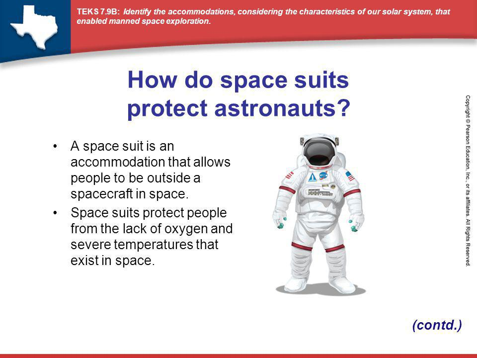 How do space suits protect astronauts