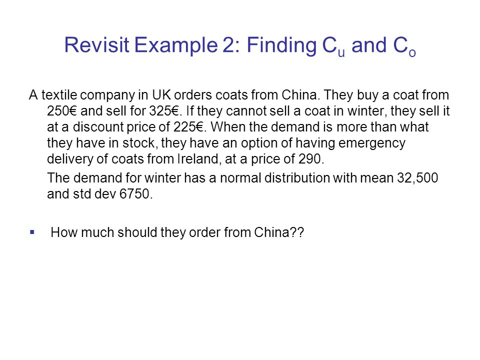 Revisit Example 2: Finding Cu and Co
