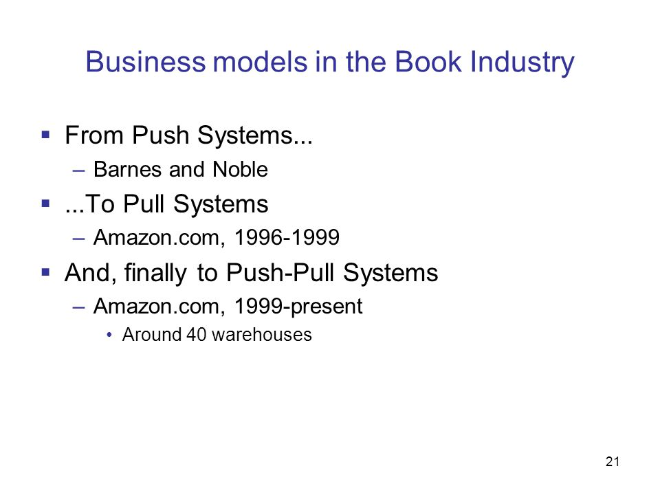 Business models in the Book Industry