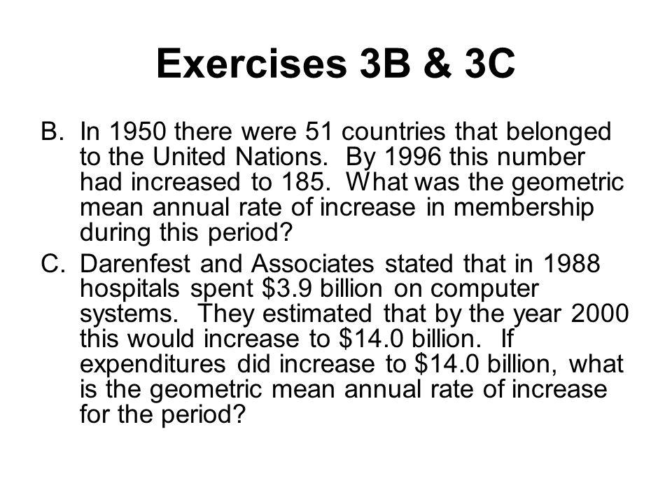 Exercises 3B & 3C