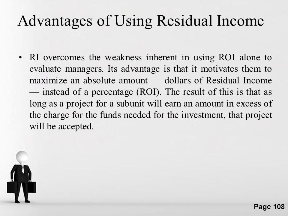 Advantages of Using Residual Income