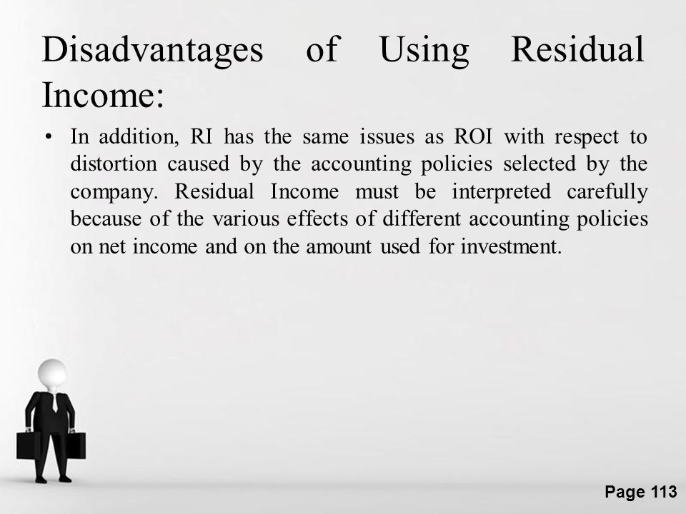 Disadvantages of Using Residual Income: