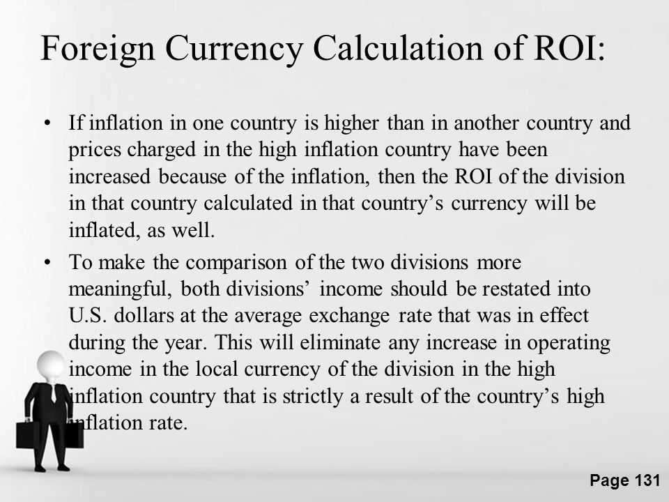 Foreign Currency Calculation of ROI: