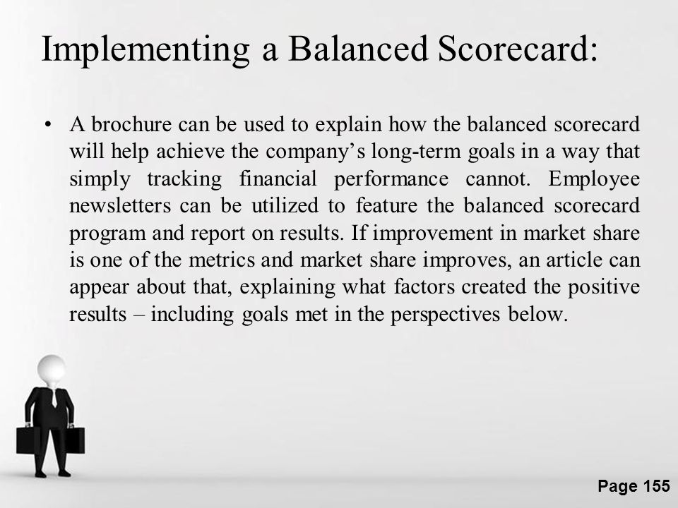 Implementing a Balanced Scorecard: