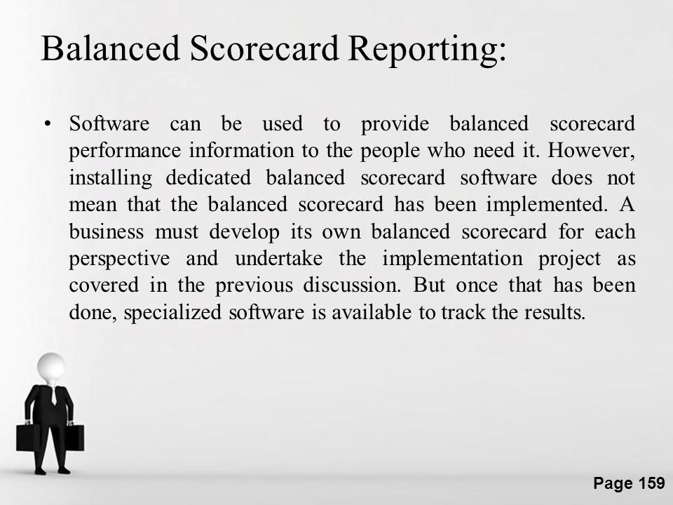 Balanced Scorecard Reporting: