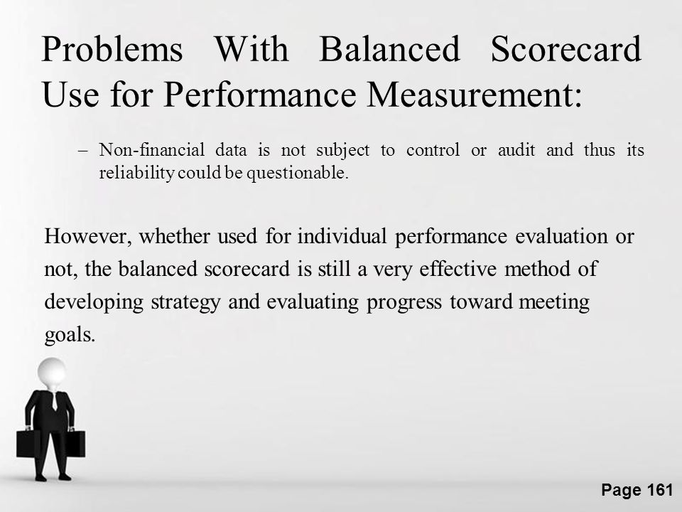 Problems With Balanced Scorecard Use for Performance Measurement: