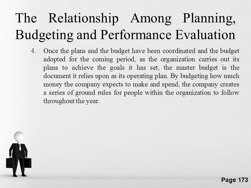 The Relationship Among Planning, Budgeting and Performance Evaluation