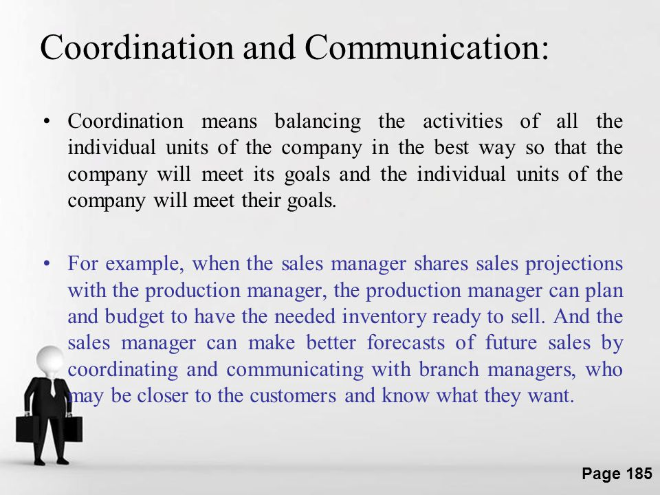 Coordination and Communication: